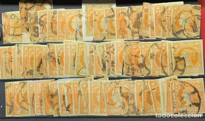 Sellos: 3 FICHAS MÁS DE 120 SELLOS ISABEL II Nº 52. - Foto 2 - 163159605