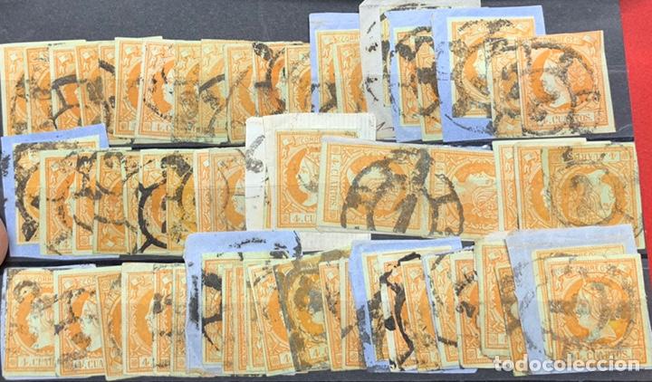 Sellos: 3 FICHAS MÁS DE 120 SELLOS ISABEL II Nº 52. - Foto 3 - 163159605