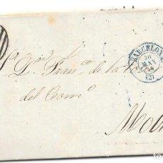 Sellos: CATALUÑA. EDIFIL 48. ENVUELTA DE BARCELONA A MAOTRIL. 1858. Lote 163446914
