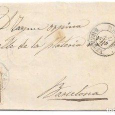 Sellos: CATALUÑA. EDIFIL 98. ENVUELTA DE MANRESA A BARCELONA. 1869. Lote 163498330