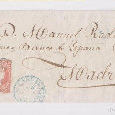 Sellos: ENVUELTA. CANGAS DE TINEO. ASTURIAS. 1857. Lote 163518366