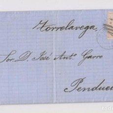 Sellos: CARTA ENTERA DE MADRID, A PENDUELES, ASTURIAS. POR TORRELAVEGA. 1867. Lote 163584122