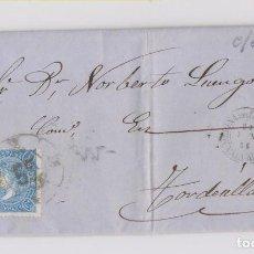 Sellos: CARTA ENTERA. 1865. CON RARA RUEDA DE CARRETA. MEDINA DEL CAMPO, VALLADOLID. Lote 164634866