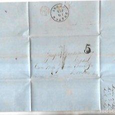 Sellos: CARTA DE BOSTON A CADIZ. 1875. VER SELLOS. Lote 164681978