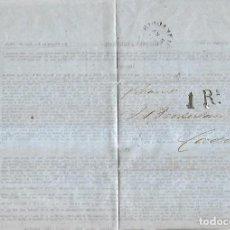 Sellos: CARTA. RIO GRANDE DEL SUR. 1859. A CADIZ. POR STEAMER. VER. Lote 164682270