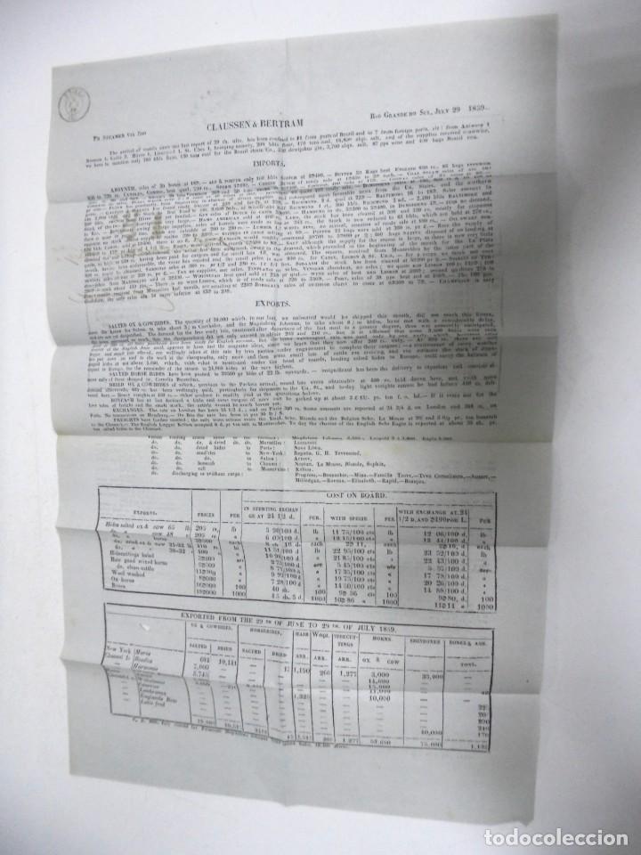 Sellos: CARTA. RIO GRANDE DEL SUR. 1859. A CADIZ. POR STEAMER. VER - Foto 2 - 164682270