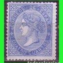 Sellos: ESPAÑA, 1867 ISABEL II EDIFIL Nº 88 (*). Lote 165261814