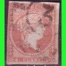 Sellos: ESPAÑA, 1858 ISABEL II EDIFIL Nº 48 (O) MAT. RUEDA DE CARRETA Nº 3, CÁDIZ. Lote 165271730
