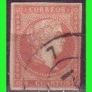 Sellos: ESPAÑA, 1858 ISABEL II EDIFIL Nº 48 (O) MAT. RUEDA DE CARRETA Nº 7, SEVILLA. Lote 165271810