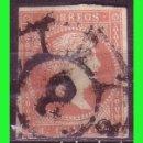 Sellos: ESPAÑA, 1858 ISABEL II EDIFIL Nº 48 (O) MAT. RUEDA DE CARRETA Nº 8, VALENCIA. Lote 165271830