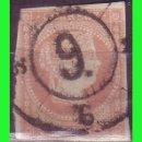 Sellos: ESPAÑA, 1858 ISABEL II EDIFIL Nº 48 (O) MAT. RUEDA DE CARRETA Nº 9, ALICANTE. Lote 165271854