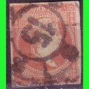 Sellos: ESPAÑA, 1858 ISABEL II EDIFIL Nº 48 (O) MAT. RUEDA DE CARRETA Nº 15, ZARAGOZA. Lote 165271926