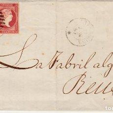 Sellos: CARTA COMPLETA CON PAREJA DE SELLOS NUM.48 DE TARRAGONA A REUS -1857- MATASELLOS FECHADOR Y PARRILLA. Lote 167046420