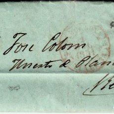 Sellos: CARTA COMPLETA CON SELLO NUM. 6 Y MATASELLOS DE BARCELONA CON DESTINO REUS. 1851. Lote 167061056