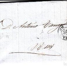 Sellos: CARTA COMPLETA CON NUM. 48 DE ZARAGOZA - 1857 - MATASELLOS DE PARRILLA Y FECHADOR ENCIMA DEL SELLO. Lote 167130852