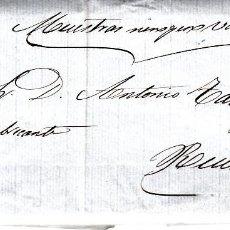 Sellos: CARTA COMPLETA CON NUM. 48 DE ZARAGOZA 1857- ----CON FECHADOR Y PARRILLA EN AZUL----. Lote 167599988