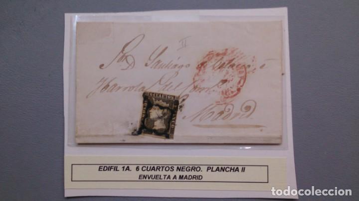 ESPAÑA - 1850 - ISABEL II - ENVUELTA COMPLETA EDIFIL 1 A - ZARAGOZA MADRID 1850 - LUJO. (Sellos - España - Isabel II de 1.850 a 1.869 - Cartas)