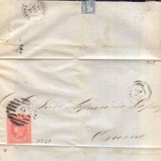 Sellos: AÑO 1864 EDIFIL 64 ENVUELTA ENVUELTA MATASELLOS REJILLA CIFRA 2 BARCELONA . Lote 168480884