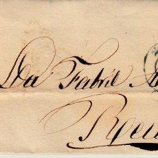 Sellos: CARTA COMPLETA CON NUM 48 DE MERCADE CALAF EN LLEIDA DESTINO REUS 1857 PARRILLA Y FECHADOR AZULES . Lote 169096216