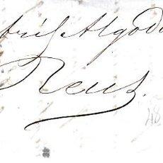 Sellos: CARTA COMPLETA CON NUM 48 DE MAS HERMANOS EN ZARAGOZA -1856 FECHADOR Y PARRILLA. Lote 169107228