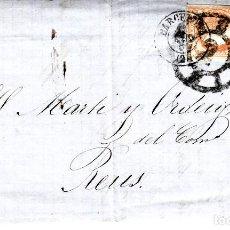 Sellos: CARTA COMPLETA CON SELLO NUM 52 DE ROGER VIDAL EN BARCELONA ----LISTA DE PRECIOS - 1864-------. Lote 169112868