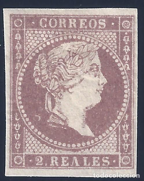 EDIFIL 50. ISABEL II. AÑO 1855. SIN FILIGRANA. PERFECTO. VALOR CATÁLOGO: 96 €. MH * (Sellos - España - Isabel II de 1.850 a 1.869 - Nuevos)