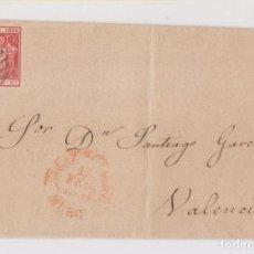 Sellos: ENVUELTA. CARTAGENA, MURCIA. 1854. Lote 169737564