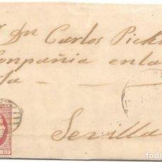 Sellos: 1853. SEIS CUARTOS. ENVUELTA CIRCULADA DE CACERES A SEVILLA. . Lote 169818164
