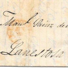 Sellos: 1853. SEIS CUARTOS. ENVUELTA CIRCULADA DE MADRID A LANESTOSA.. Lote 169818536