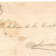 Sellos: 1853. SEIS CUARTOS. ENVUELTA CIRCULADA DE MADRID A VALENCIA.. Lote 169818756