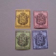 Sellos: ESPAÑA - 1854 - ISABEL II - EDIFIL 28/31 - SERIE COMPLETA - MH* - NUEVOS - VALOR CATALOGO 122€.. Lote 170202568