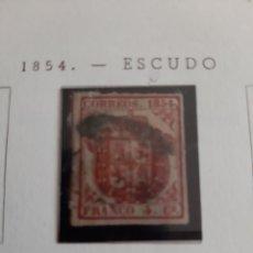 Sellos: 1854 ESPAÑA EDIFIL N 33 4 CUARTOS ESCUDO BONITO. Lote 171159738