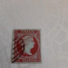 Sellos: 1855 ESPAÑA ISABEL II EDIFIL N 40 4 CUARTOS MATASELLO LIMPIO CENTRAJE BUENO ORIGINAL. Lote 171160032
