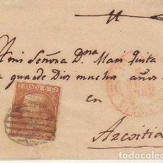 Sellos: ENVUELTA : SELLO 12. ISABEL II. SAN SEBASTIAN A AZCOITIA.1852.. Lote 171192753