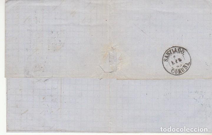 Sellos: sello 58. ISABEL II : BARCELONA a SANTIAGO. 1863. - Foto 2 - 171254139