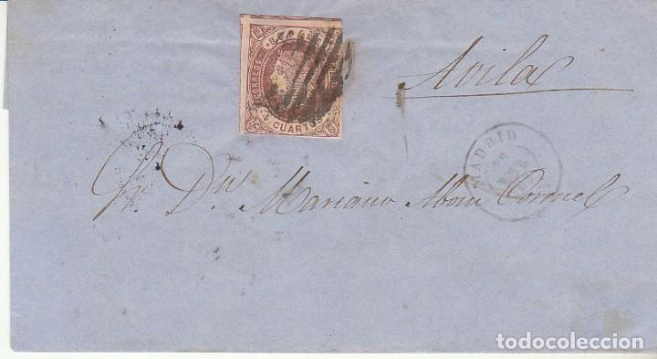 ENVUELTA. SELLO 58. ISABEL II : MADRID A AVILA. 1863. (Sellos - España - Isabel II de 1.850 a 1.869 - Cartas)