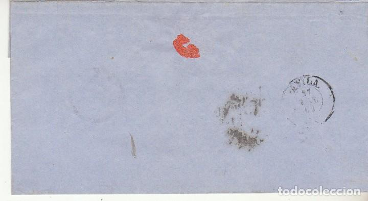 Sellos: Envuelta. sello 58. ISABEL II : MADRID a AVILA. 1863. - Foto 2 - 171327242