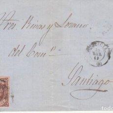 Sellos: SELLO 58. ISABEL II : VALENCIA A SANTIAGO. 1863.. Lote 171359264