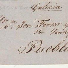 Sellos: SELLO 48. ISABEL II. SAN SEBASTIAN A PUEBLA (CORUÑA).1856.. Lote 171360117