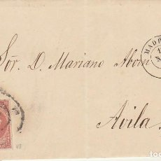 Sellos: SELLO 48. ISABEL II. MADRID A AVILA.1858. Lote 171360392