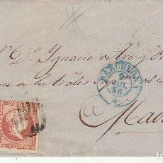 Sellos: ENVUELTA. SELLO 48 : ISABEL II. BARCELONA A MADRID. 1856.. Lote 171360653