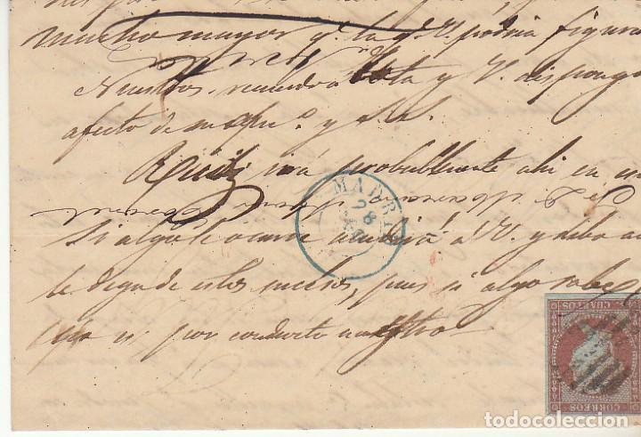 SELLO 12. ISABEL II. AVILA A MADRID. 1855. (Sellos - España - Isabel II de 1.850 a 1.869 - Cartas)