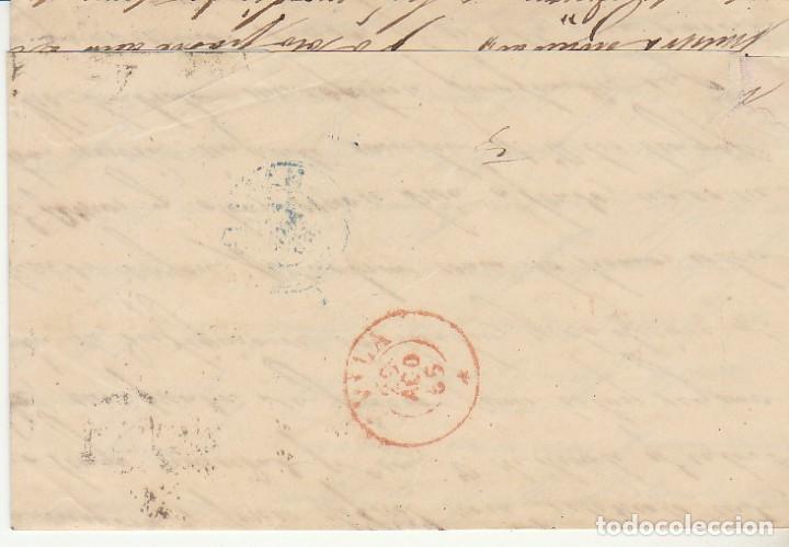 Sellos: Sello 12. ISABEL II. AVILA a MADRID. 1855. - Foto 2 - 171360973