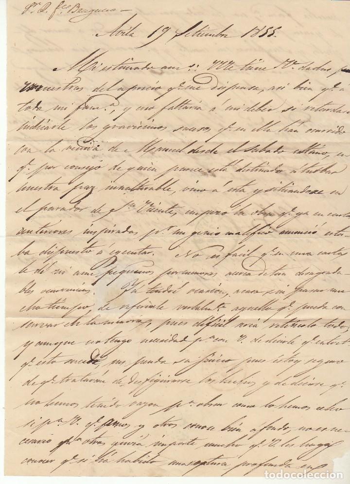 Sellos: Sello 12. ISABEL II. AVILA a MADRID. 1855. - Foto 3 - 171360973