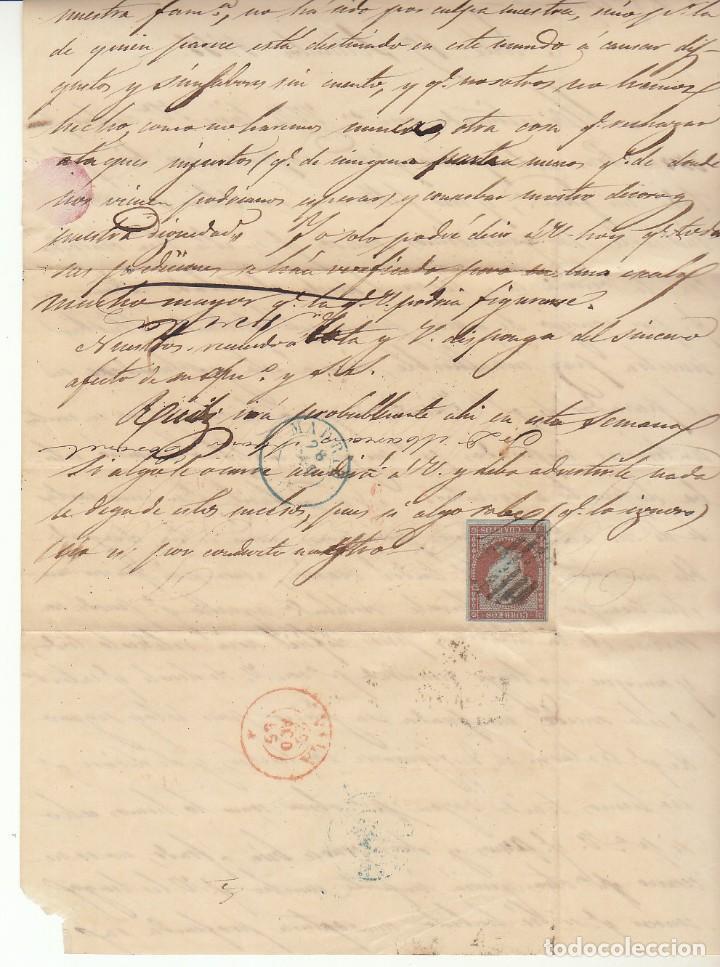 Sellos: Sello 12. ISABEL II. AVILA a MADRID. 1855. - Foto 4 - 171360973