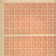 Sellos: ISABEL II 12 CUARTOS EDIFIL Nº 82 FALSO SEGUI HOJA COMPLETA DE 100 SELLOS (*). Lote 171451424
