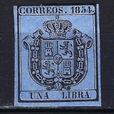 Timbres: 1854 ESPAÑA EDIFIL ED 31 MH* NUEVO CON FIJASELLOS - ESCUDO DE ESPAÑA - 1 LIBRA. Lote 171511648