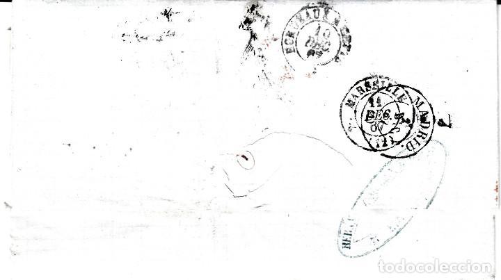 Sellos: CARTA COMPLETA CON NUM-89 DE HERNANDEZ EN MALAGA -1867 DESTINO FRANCIA -VARIOS MATASELLOS - Foto 2 - 171770364