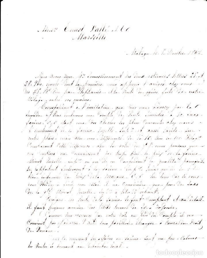 Sellos: CARTA COMPLETA CON NUM-89 DE HERNANDEZ EN MALAGA -1867 DESTINO FRANCIA -VARIOS MATASELLOS - Foto 4 - 171770364