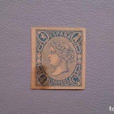 Sellos: ESPAÑA - 1864 - ISABEL II - EDIFIL NE2 - F - MH* - NUEVO CON GOMA Y FIJASELLOS.. Lote 171806397